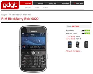 GDGT - Blackberry Bold